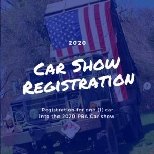 2020 Car Show - Registration