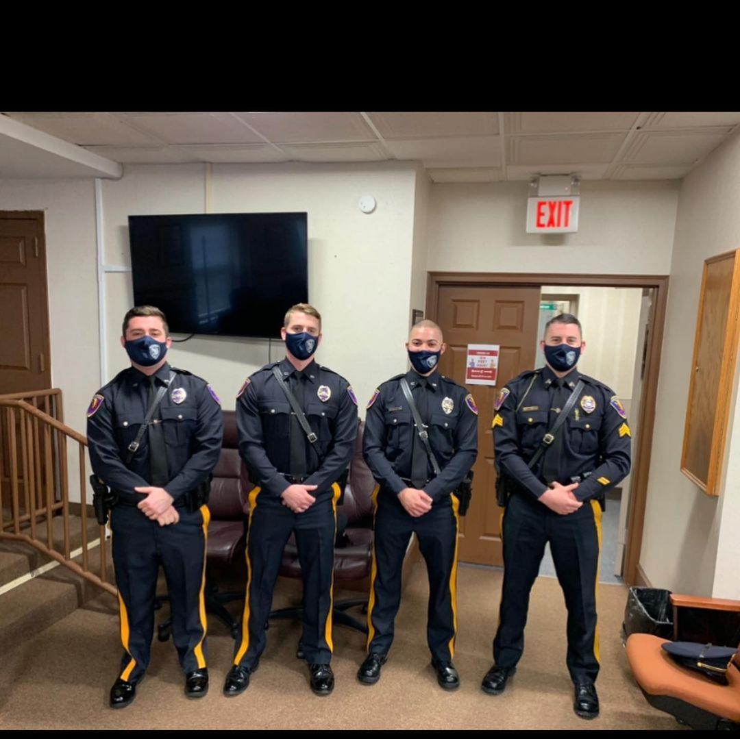 Sgt. Dericks Promoted & Three New Patrol Officers Sworn In